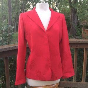 Dana Buchman Red Blazer Jacket Size 4